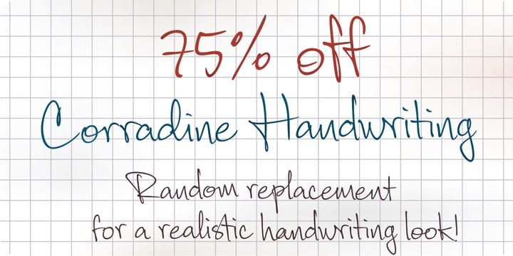 113593 - Corradine handwrite (75% off, from $4.99)