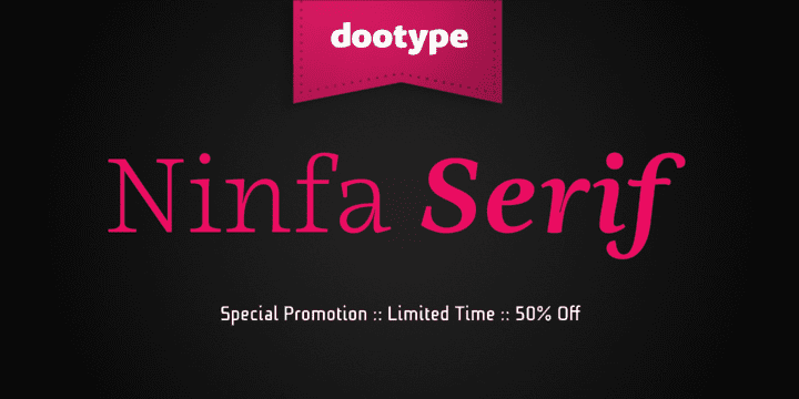 118534 - Ninfa Serif (60% discount, from 9€)