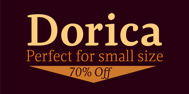 119127 - Dorica (from $10.50)