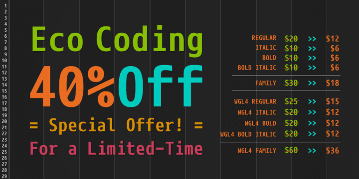 103915 - Eco Coding (40% discount, from $6.00)