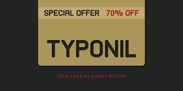 105415 - Typonil (70% discount, from 5,70 €)