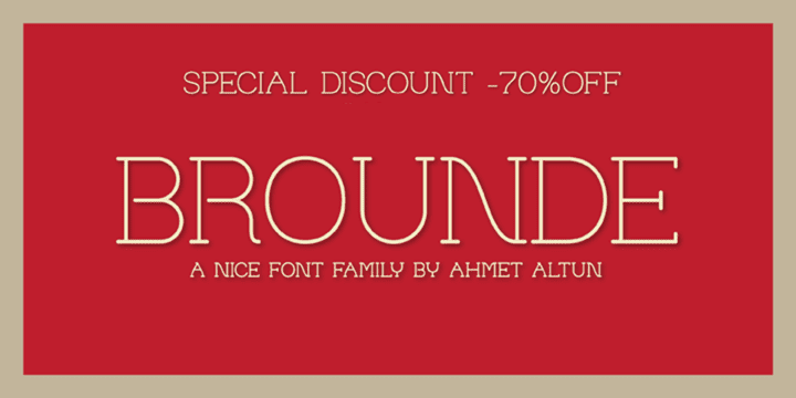 105417 - Brounde (70% discount, from 3,30€, family 9,90€)