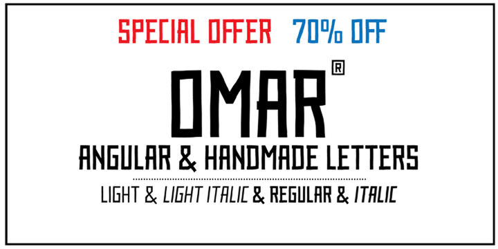 105418 - Omar (70% discount, from $5.70)