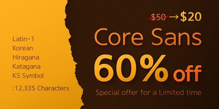105912 - Core Sans (family $40.00)