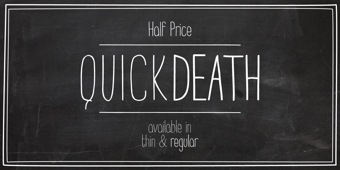 103583 - Quick Death (50% discount, 7€)