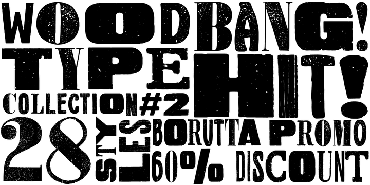 120288 - Wood Type Collection 2 (60% discount, from $5.20)