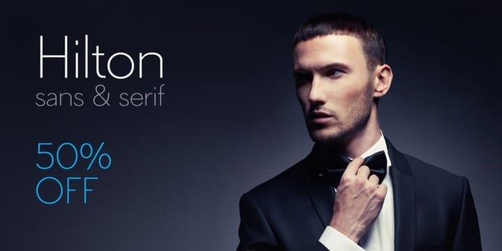 120682 - Hilton Sans (50% discount, 16€)
