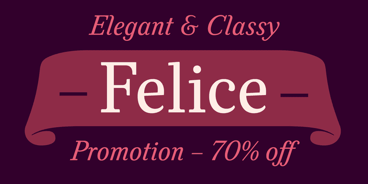 123689 - Felice (70% discount, from $10.50, family $60.00)