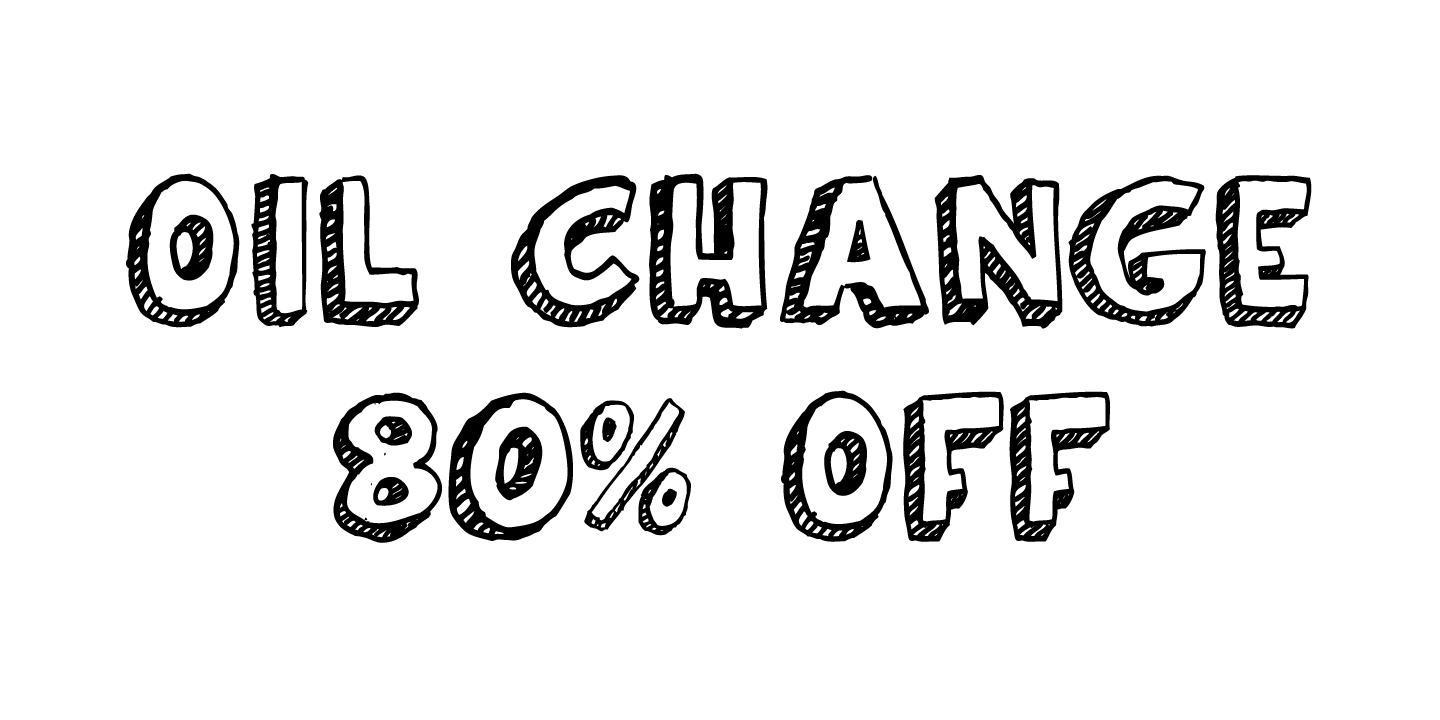 124543 - Oil Change (80% discount, from $3.99)