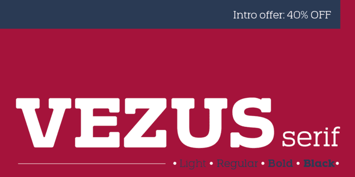 126552 - Vezus Serif (40% discount, from $18.00)