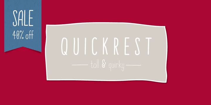 98576 - Quickrest (40% discount, from 7,79€)