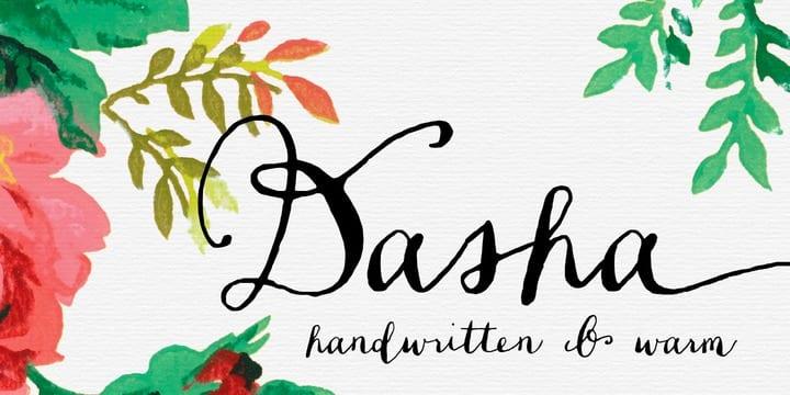 127866 - Dasha (NEW font)