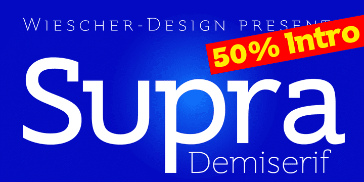 129565 - Supra Demiserif (50% discount, from $0.00, family $60.00)