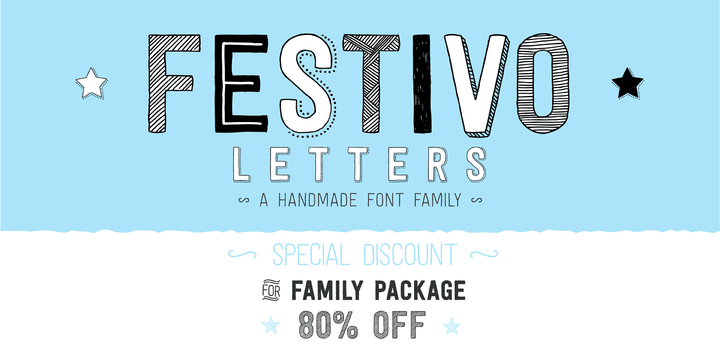125763 - Festivo Letters (80% discount, complete 16,20€)