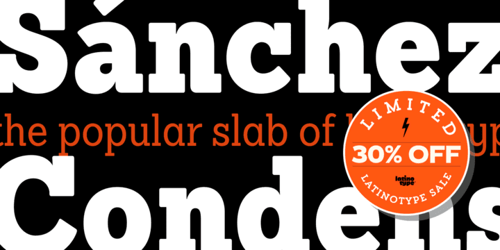 129429 - Sanchez Condensed (69% discount, family 34,41€)