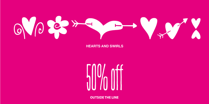 130500 - Hearts and Swirls (50% discount, $14.50)