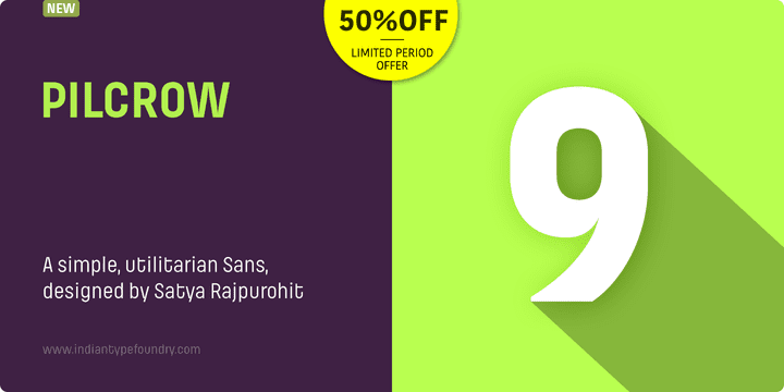 131069 - Pilcrow (50% discount, from $19.50)