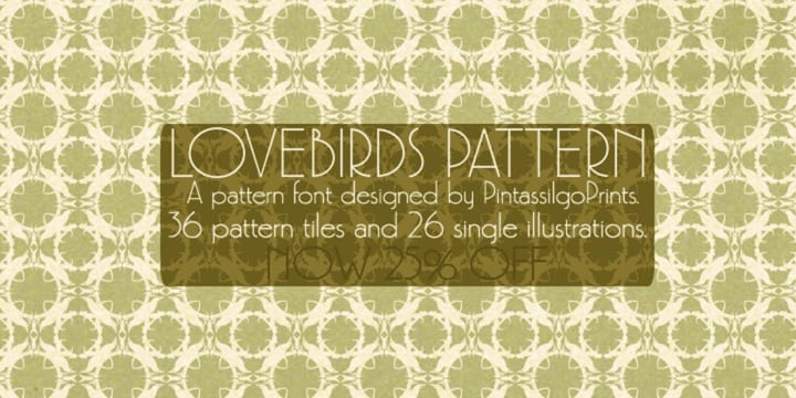 93891 - Love Birds Pattern (25% discount, 12,74€)