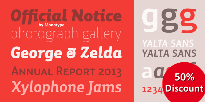 130041 - Yalta Sans Pro (50% discount, from $17.50)