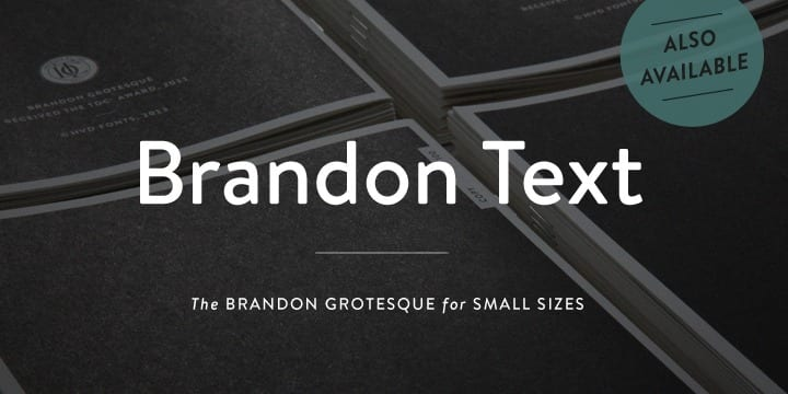 Brandon Grotesque (BEST sellers)