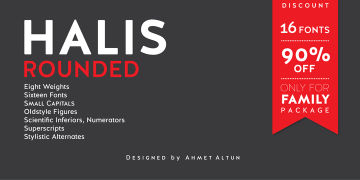 Halis Rounded (90% discount, family 13,60€)