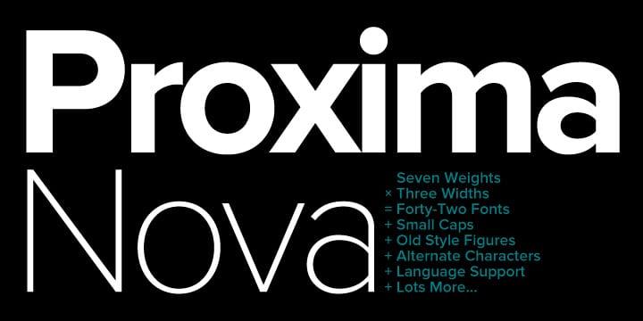 Proxima Nova (BEST sellers)