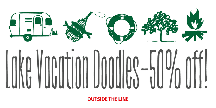 135163 - Lake Vacation Doodles (50% discount, 12,50 €)