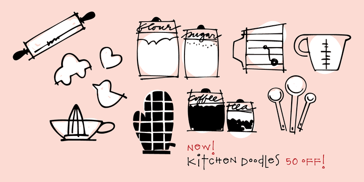 136765 - Kitchen Doodles (50% discount, 12€)