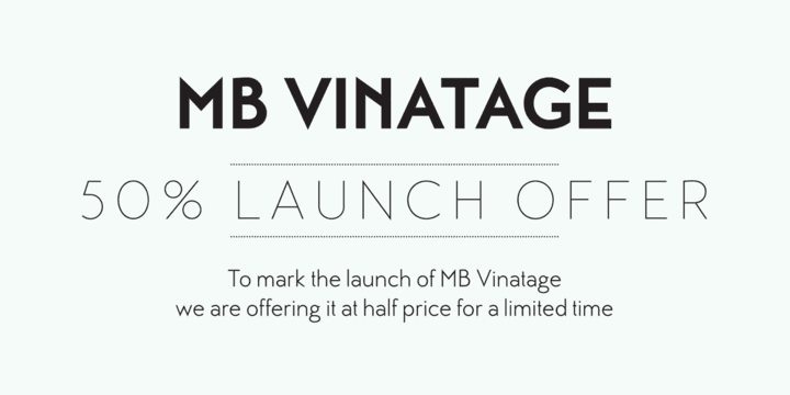 139888 - MB Vinatage (75% discount, from 5,25€)