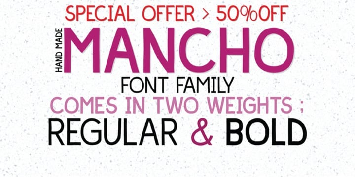 105413 - Mancho (50% discount, family 10,50 €)