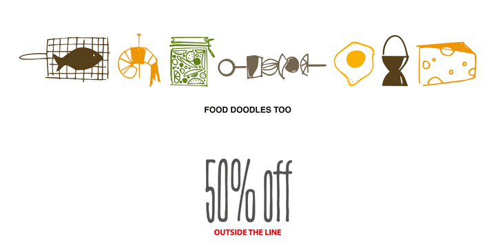 137261 - Food Doodles Too (50% discount, 10,50€)
