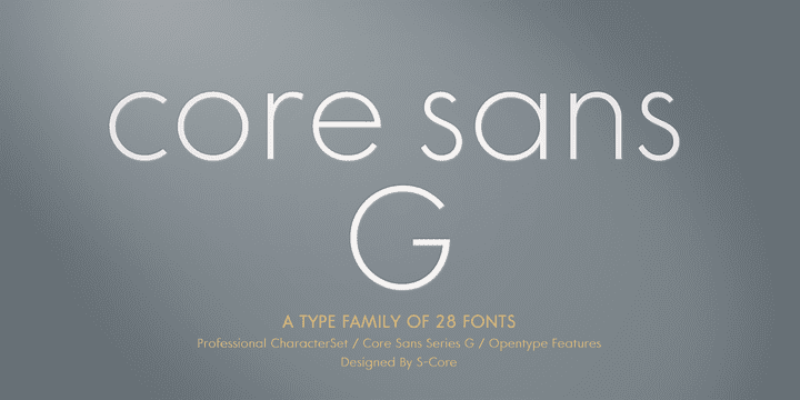 120647 - Core Sans G (90% discount, from 3,40€)