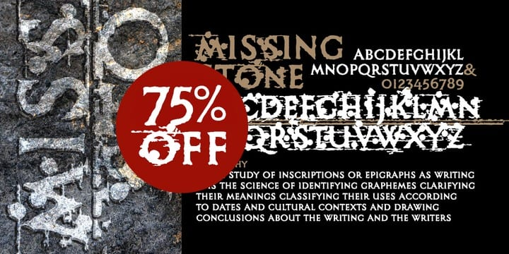 144174 - Missing Stone (75% discount, 6,25€)