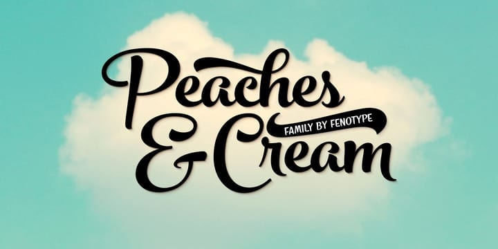 144379 - Peaches And Cream (HOT font)