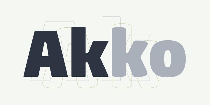 76270 - Akko Pro Rounded (HOT font)