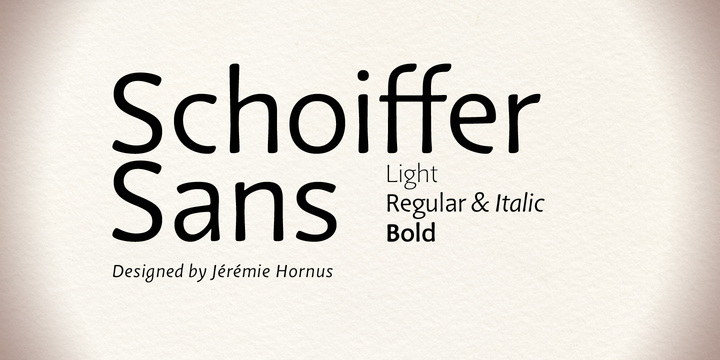 120545 - Schoiffer Sans (50% discount, from 1,50€, complete 4,40€)