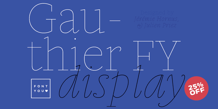 153105 - Gauthier Display FY (25% discount, family 28,50€)