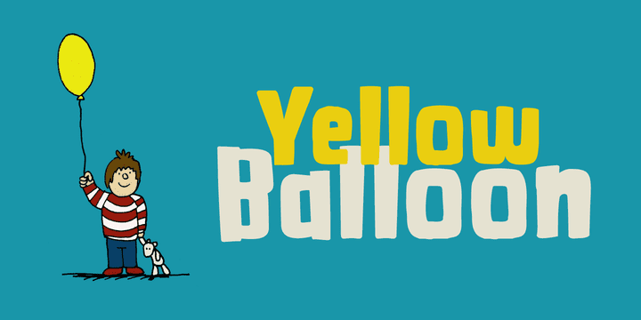 112320 - Yellow Balloon (30% discount, from 7,69€)