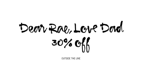 725588a9bfd144194cd472d2a387a010 580x290 - Dear Rae, Love Dad (30% discount, 16,79€)
