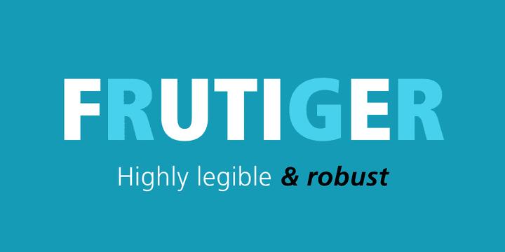 Frutiger (Expert's Choice)