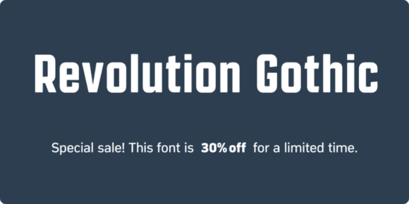 b9f62fc5c21f37f118cac125c9ea2da4 580x290 - Revolution Gothic (30% discount, from 10,49€)