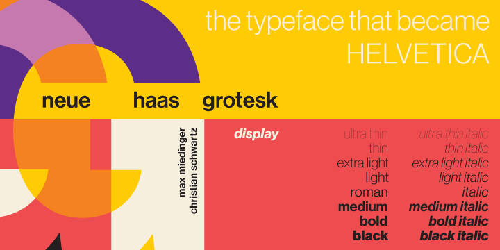 Neue Haas Grotesk (50% discount, family 115€)