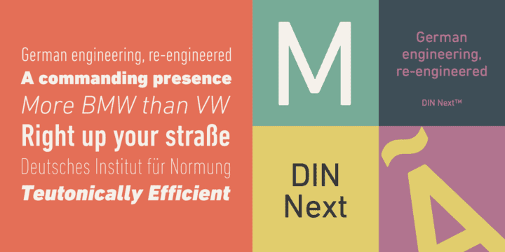 DIN Next (50% disocunt, from 46,55€)