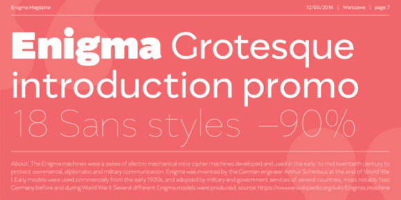354a3522b3574efdf42b8ca9dc590adf 580x290 - Enigma Grotesque (90% discount, from 2,20€)
