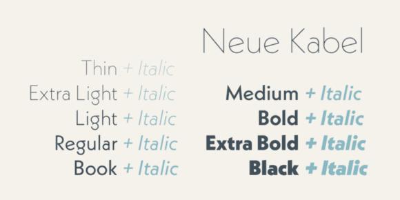 Neue Kabel (50% discount, family 99,50€) – FontsDiscounts com