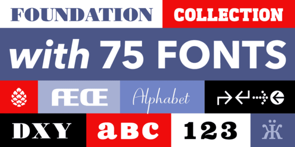 3d2f29c496bc26b13c51ee30c20e0f4d 580x290 - The Foundation Collection (bundle of 75 fonts, 49€)