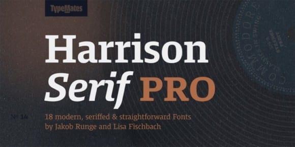 eeb499ec5fe1c0081cf559c177f58f3f 1 580x290 - Harrison Serif Pro (NEW font)