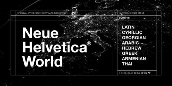 989fab3e8d3b1b80b079da818b64591d 580x290 - Neue Helvetica World (75% discount, family 99,75€)