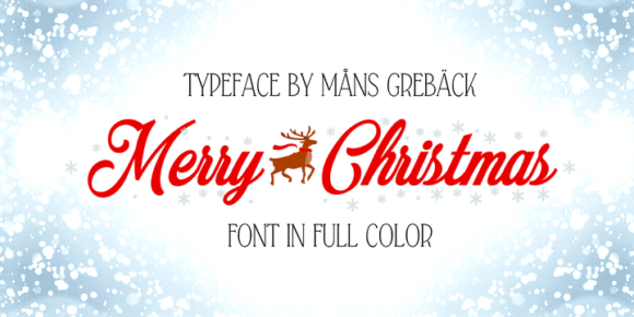 ce18e54f3ed69e7f33b1b537d9b5d9d2 580x290 - Merry Christmas Color (NEW font)