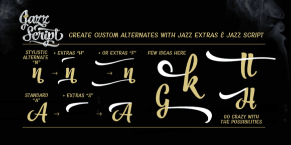 4b50aa318a0b5d409f795e5d26416e59 - Jazz Script (25% discount, from 8,99€)